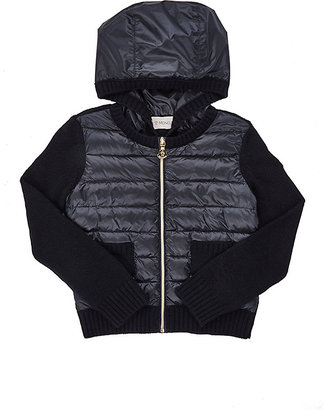 Moncler Sweater-Sleeve Zip-Front Cardigan $305 thestylecure.com