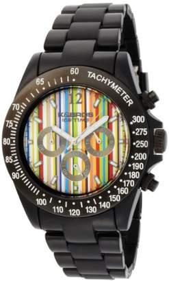 K & Bros Men's 9517-2 Ice-Time Racing Chronograph Paul Stripe Watch