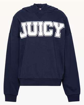 Juicy Couture JXJC Oversize Collegiate Juicy Hooded Pullover