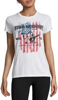 True Religion Women's American Flag Tee