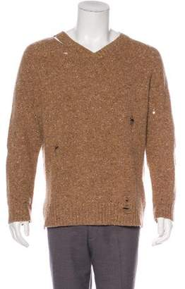 Marc Jacobs Distressed Wool & Cashmere Sweater