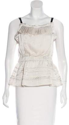 Marc Jacobs Backless Pleated Blouse