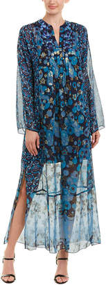 Anna Sui Stars Silk-Blend Maxi Dress