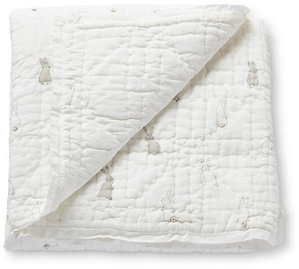 Bunny Hop Quilted Blanket - White/Gray - Pehr