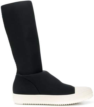 Rick Owens knee length sneaker boots