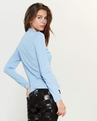 Versace Long Sleeve Mock Neck Sweater