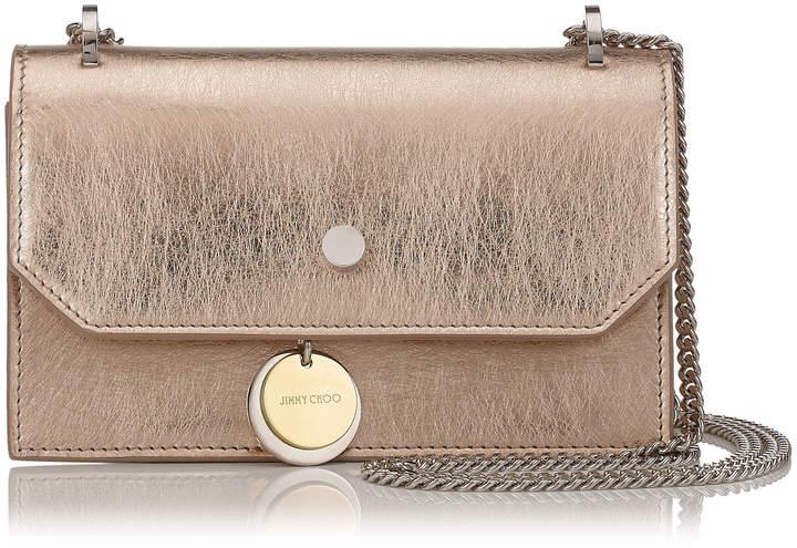 Jimmy ChooFINLEY Gold Etched Metallic Leather Cross Body Mini Bag