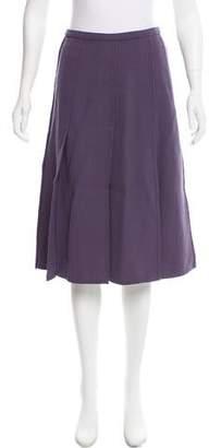 Rochas Slit-Accented Knee-Length Skirt