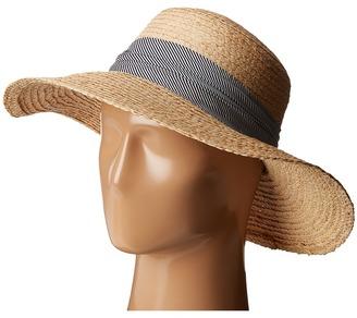 Hat Attack - Raffia Braid Lampshade w/ Striped Band Caps $98 thestylecure.com