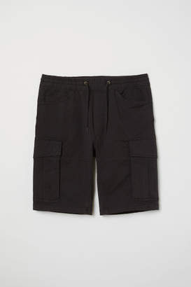 H&M Cargo Shorts - Black