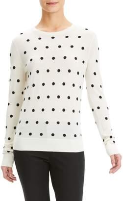 Theory Polka Dot Merino Wool Sweater