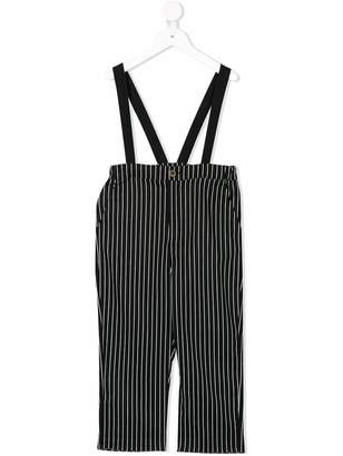 Factory Little Creative Kids striped dungarees