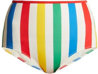 Solid & Striped The Brigitte High Waisted Bikini Bottoms - Womens - Multi Stripe