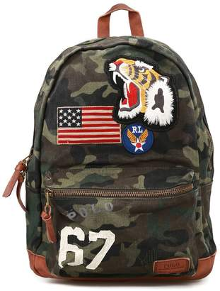 Polo Ralph Lauren Camo And Patch Detailed Backpack