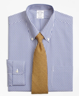 Brooks Brothers Regent Fitted Dress Shirt, Non-Iron Dobby Gingham