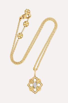 Buccellati Opera 18-karat Yellow And White Gold Diamond Necklace - one size