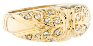 Ring 18K Diamond Wide Band