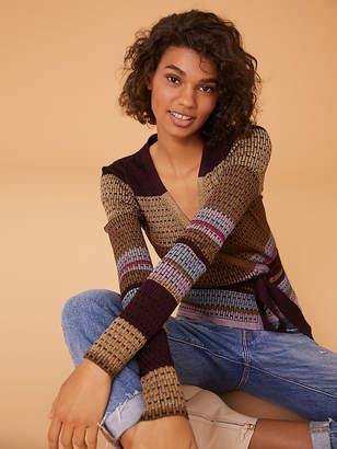Diane von Furstenberg Long Sleeve Wrap Sweater