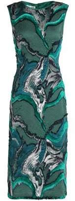 Alberta Ferretti Metallic Fil Coupé Midi Dress