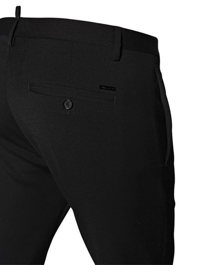 15cm Skinny Stretch Wool Cady Pants 4