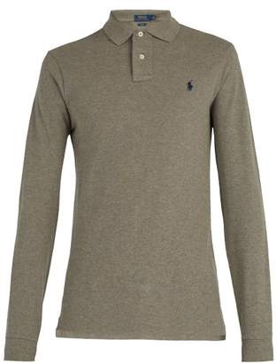 Polo Ralph Lauren Slim Fit Cotton Polo Shirt - Mens - Dark Grey