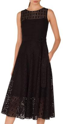 Akris Punto Lace Fit & Flare Dress