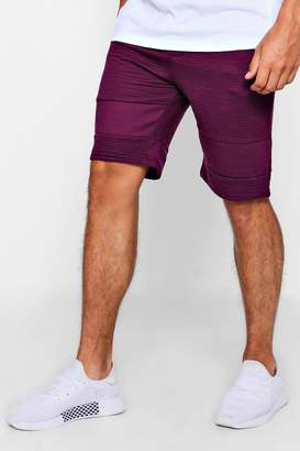 boohoo Panel Detail Jersey Shorts