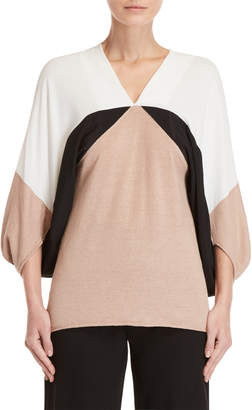 Pierantonio Gaspari Color Block Kimono Sleeve Sweater