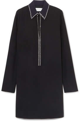 Victoria Beckham Victoria, Crystal-embellished Crepe Mini Dress - Black