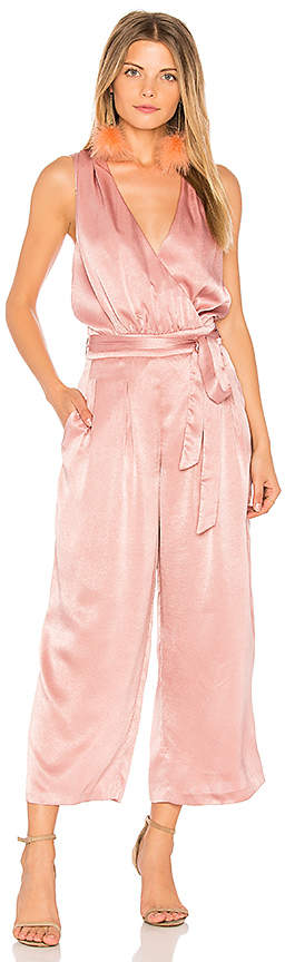 J.O.A. Peekaboo Detail Slip Jumpsuit in Pink. - size L (also in M,S,XS)