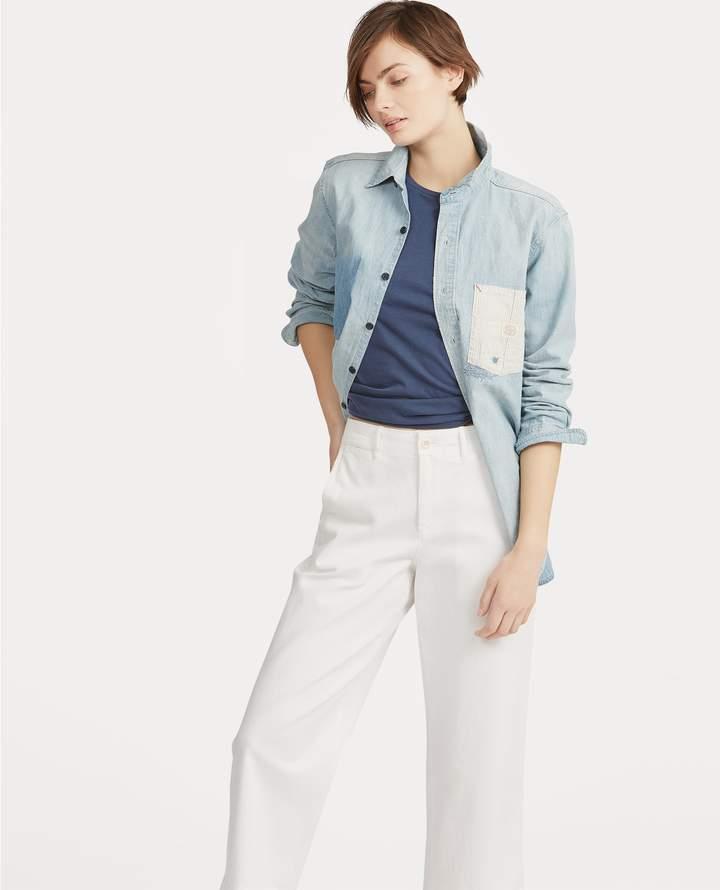 Denim Button-Down Shirt