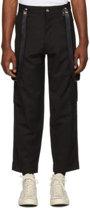 Enfants Riches Deprimes Black Cargo Suspenders Trousers