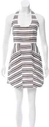 A.L.C. Striped Halter Dress
