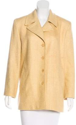 Burberry Notch-Lapel Silk Blazer