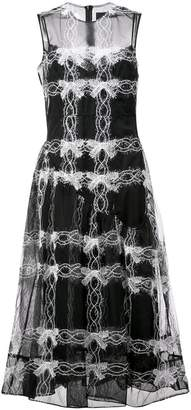 Simone Rocha bow chain pattern sheer dress