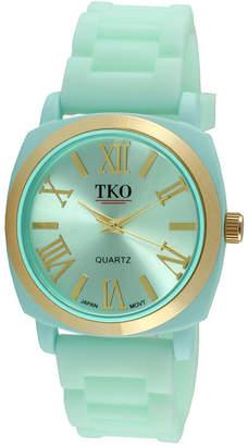 JCPenney TKO ORLOGI Milano III Womens Mint Silicone Strap Watch