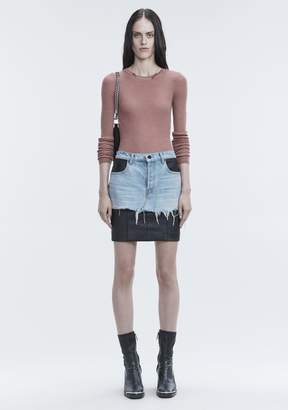 Alexander Wang RIB LONG SLEEVE TOP TOP