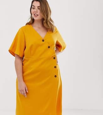 Unique21 Hero button wrap dress
