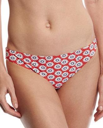 Tory Burch Primrose Hipster Bikini Bottom, Red Pattern $95 thestylecure.com