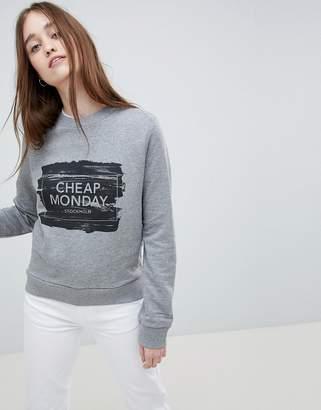 Cheap Monday Win Paint Box Logo Sweatshirt