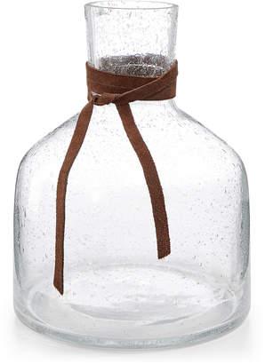 Lucky Brand SHORT BUBBLE GLASS VASE