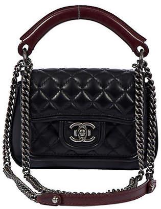 One Kings Lane Vintage Chanel New 2-Way Quilted Black Bag - Vintage Lux