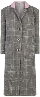 Natasha Zinko Check Oversized Padded Coat