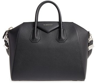 Givenchy 'Medium Antigona' Sugar Leather Satchel - Black $2,450 thestylecure.com