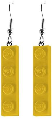 Lego Schmuckzeug Women's 1x4 Flat Yellow Earrings