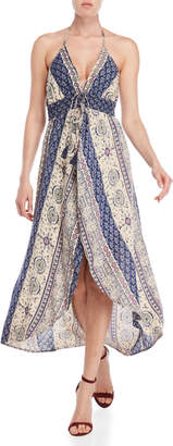 Angie Printed Self-Tie Maxi Walkthrough Dress