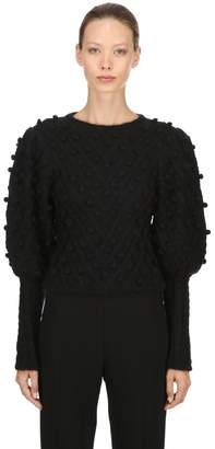 Zimmermann Wool Blend Knit Sweater W/ Pompoms