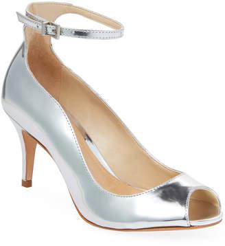 Schutz Liffa Mid Heel Leather Sandal