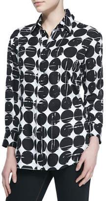 Finley Poplin Polka-Dot Print Dress Shirt