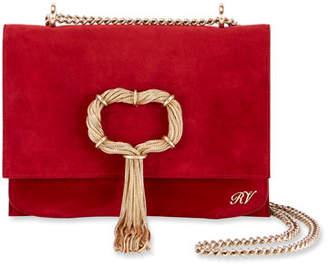 Roger Vivier Club Chain Suede Evening Clutch Bag